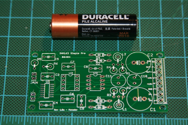 Simple INA163 Preamp